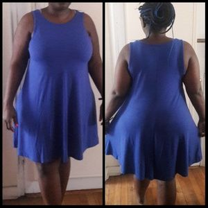 Blue Sleeveless Knit Dress XL